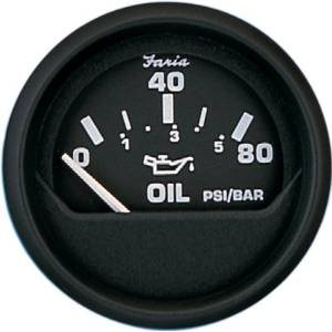 euro black oil pressure gauge