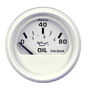 dress white oil pressure gauge