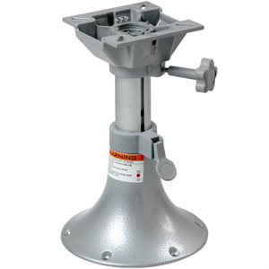 "adjustable pedestal w / swivel 13'' @ 17"" high"