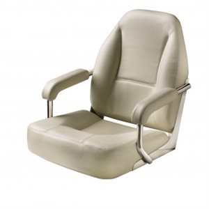 high end deluxe off white & beige stitching mojo chair