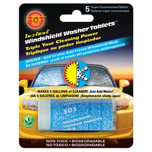 303® instant windshield washer tablets  /  5 pk.