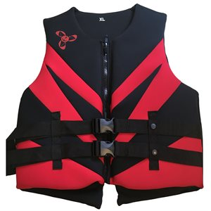 Neoprene Canadian approved outdoor sports and boating lifejacket vest, LARGE