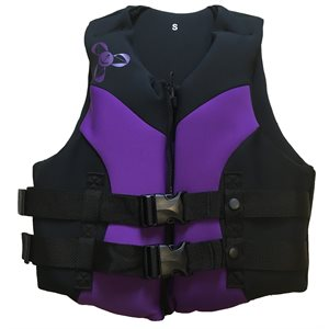 Neoprene Canadian approved women's outdoor sports and boating lifejacket vest, LARGE
