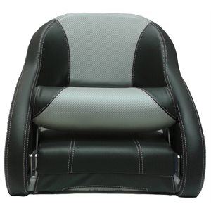 deluxe bolster style bucket seat charcoal  /  light grey