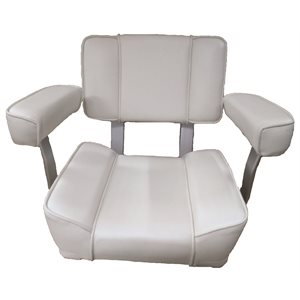 white captains chair with armrest