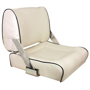 deluxe white with black lacing two way reversible flip back seat