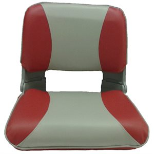 plastic shell type red & light grey folding seat