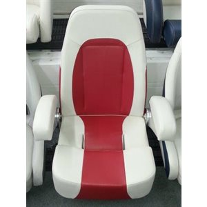 royal series, high-end flip up seat white & red