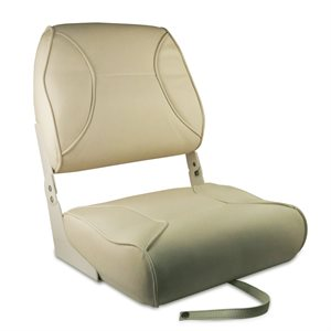 all white deluxe folding seat