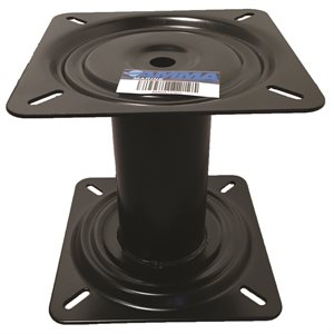 "7"" fixed height pedestal blk"