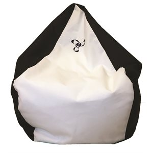 bean bag chair black / white