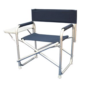 folding aluminium deck chair with desk