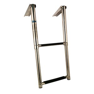 stainless steel 2 step telescopic ladder