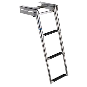 stainless steel 3 step telescopic ladder
