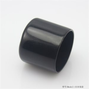 black rubber foot cap 1""