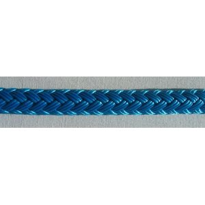 "double braided polyester rope 1 / 4"" blue"