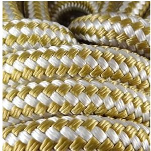 "double braided polyester rope 3 / 8"" with gold trace"