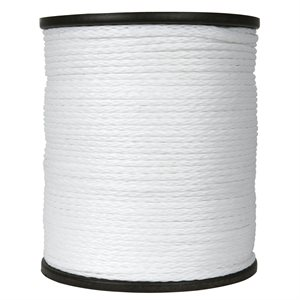 "double braided polpropylene rope 3 / 16"" white"