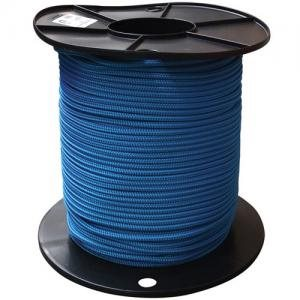 "double braided polpropylene rope 3 / 16"" blue"