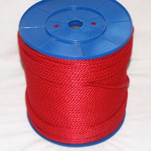 "double braided polpropylene rope 1 / 4"" red"