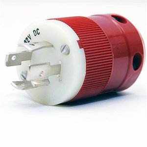 red 12v charger plug (male)
