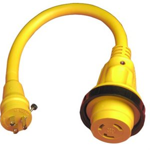 pigtail adapter female 30a locking to male 15a