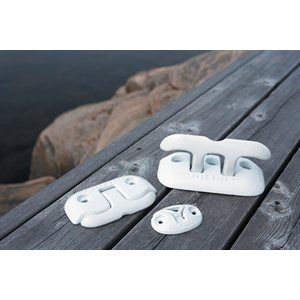 "aluminum flip-up dock cleat, 6"" white"