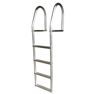 eco weld free aluminum dock ladder, 4 step