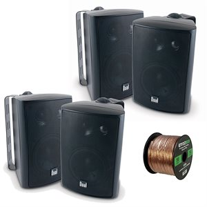 "4"" 3-WAY 200W SPEAKERS BLACK"