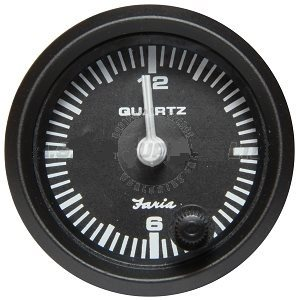 Euro black quartz analog clock