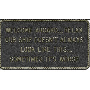 "PLAQUE ""WELCOME ABOARD"""