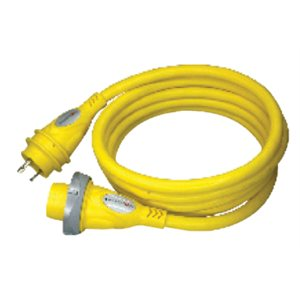 hd marine cordset w /  powersmart led 30a 125v - 12ft yellow