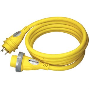 30 amp 125v heavy duty marine cordset – 25ft yellow