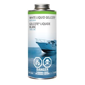 white liquid gelcote with wax,  1l