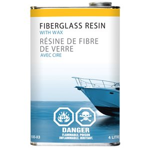 polyester resin  with hardner, 4l