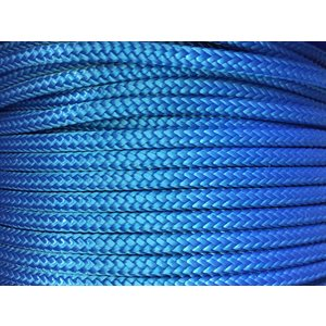 "double braided nylon rope 3 / 8"" blue"