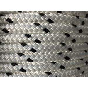 "double braided polyester rope 1 / 4""  with black trace"