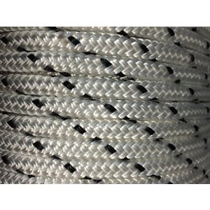 "double braided polyester rope 5 / 16"" with black trace"