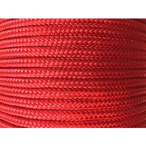 "double braided nylon rope 3 / 8"" red"
