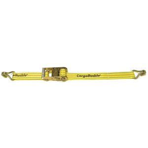 "RATCHET STRAP WITH DOUBLE J-HOOKS 2""X20'"