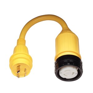 pigtail adapter female 50a locking to male 30a