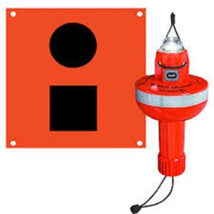 Electronic SOS LED Beacon with flag