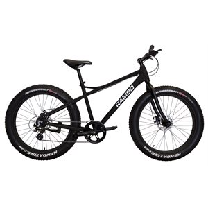 fat bike noir mat non motorisé