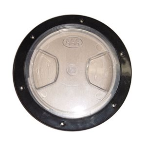 "deck plate, clear lid 5"" blk"