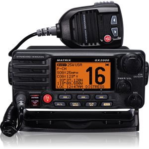 RADIO VHF MATRIX GX2000 NOIR