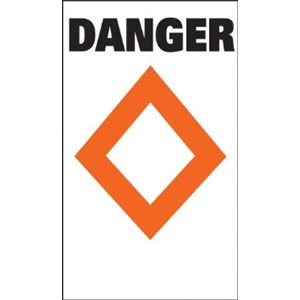 buoy danger label 15 x 2 x 2 inches