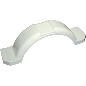 "WHITE PLASTIC STEP FENDER  14"" / 15"""